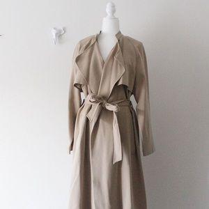 NWT H&M Tan Wrap Long Trench Coat